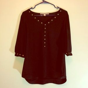 lovely never worn black 3/4 sleeve top